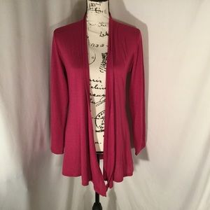 Chris and Carol Open Front Long Sleeve Cardigan M